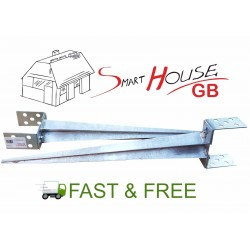 0-160 mm ADJUSTABLE GALVANISED METAL STEEL FENCE POST SUPPORT SPIKE POST HOLDER