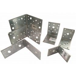 HEAVY DUTY STEEL GALVANISED ANGLE L BRACKETS CORNER BRACE TIMBER REPAIR