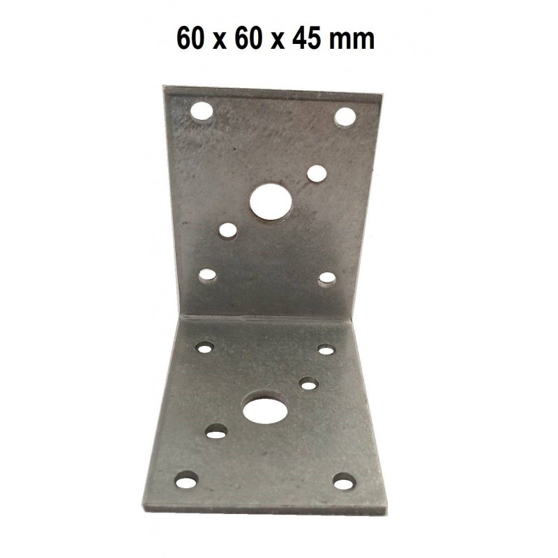 HEAVY DUTY STEEL GALVANISED ANGLE L BRACKETS CORNER BRACE TIMBER ...
