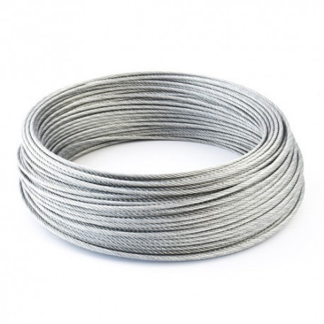 8mm Wire Rope Zinc Steel Rope Cable Rigging Price Per Meter FREE DELIVERY