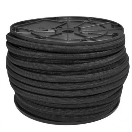 6mm EXTRA STRONG BLACK ELASTIC BUNGEE ROPE SHOCK CORD TIE DOWN