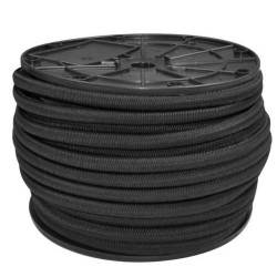 8mm EXTRA STRONG BLACK ELASTIC BUNGEE ROPE SHOCK CORD TIE DOWN
