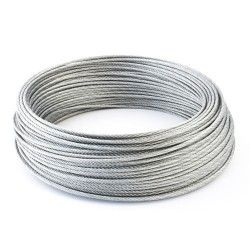 4mm Wire Rope Zinc Steel Rope Cable Rigging Price Per Meter FREE DELIVERY