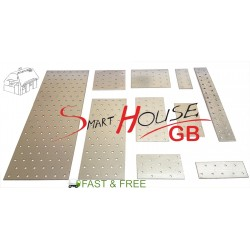 Heavy Duty Galvanised Steel Perforated Plate Flat Bracket Various Sizes FREE P&P