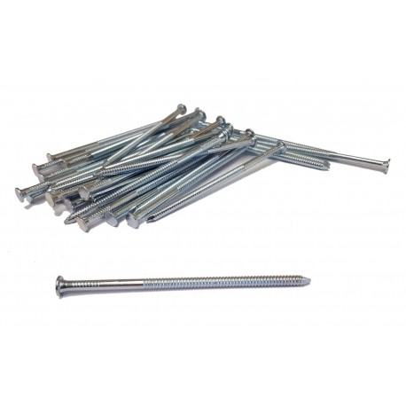 1kg Galvanised Annular Ring Shank Nails Nail Steel 4mm Thick