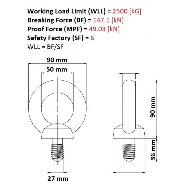 m27 wiring diagram m27 galvanised eye bolt lifting metric thread - smart house gb wiring diagram for 1996 club car 48 volt #5