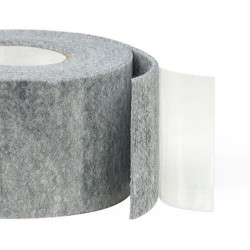 5m Length x 10mm Width Self-Adhesive Felt Furniture Pad Roll Felt Strip Grey 4.5 mm T