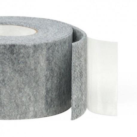 5m Length x 10mm Width Self-Adhesive Felt Furniture Pad Roll Felt Strip Grey 4.5 mm T