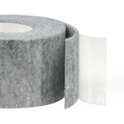75mm Width x 5m Length Self-Adhesive Felt Furniture Pad Roll Felt Strip Grey 3 mm T