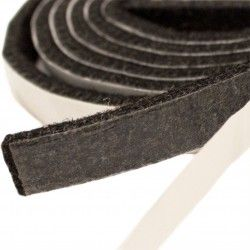 10mm Width x 5m Length Self-Adhesive Felt Furniture Pad Roll Felt Strip Black 2.5 mm T