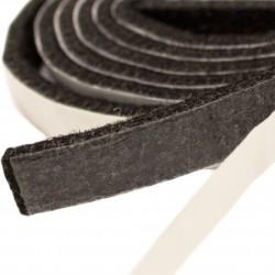 40mm Width x 5m Length Self-Adhesive Felt Furniture Pad Roll Felt Strip Black 2.5 mm T