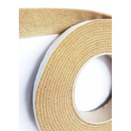 100mm Width x 5m Length Self-Adhesive Felt Furniture Pad Roll Felt Strip Beige 2.5 mm T