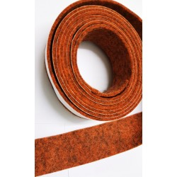 20mm Width x 5m Length Self-Adhesive Felt Furniture Pad Roll Felt Strip Dark Amber 2.5 mm T