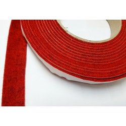10mm Width x 5m Length Self-Adhesive Felt Furniture Pad Roll Felt Strip Dark Red 2.5 mm T