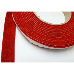 40mm Width x 5m Length Self-Adhesive Felt Furniture Pad Roll Felt Strip Dark Red 2.5 mm T
