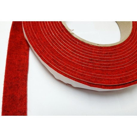 75mm Width x 5m Length Self-Adhesive Felt Furniture Pad Roll Felt Strip Dark Red 2.5 mm T
