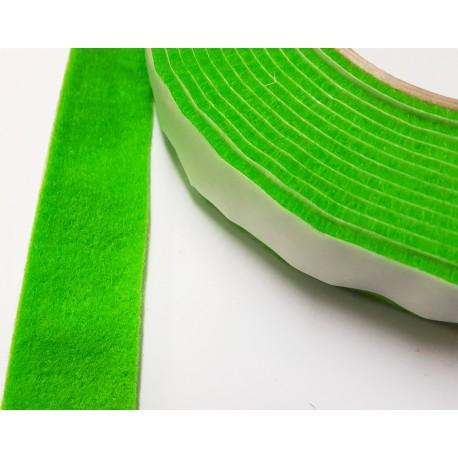 20mm Width x 5m Length Self-Adhesive Felt Furniture Pad Roll Felt Strip Green 2.5 mm T