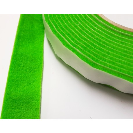 75mm Width x 5m Length Self-Adhesive Felt Furniture Pad Roll Felt Strip Green 2.5 mm T