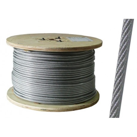 3/4mm 15m Galvanised Steel Clear PVC Plastic Coated Wire Rope Boat