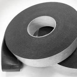 5mm Thick x 75mm Width x 15m Long Acoustic Soundproofing Resilient Tape - Joist / Stud work Isolation