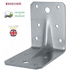 HEAVY DUTY REINFORCED GALVANISED ANGLE L BRACKETS CORNER BRACE TIMBER 2,5mm T