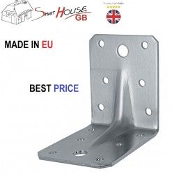 HEAVY DUTY REINFORCED GALVANISED ANGLE L BRACKETS CORNER BRACE TIMBER 2,0mm T