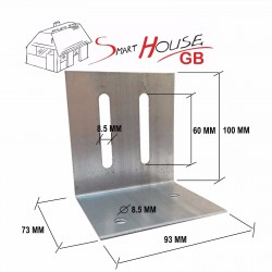 Galvanised Corner Brace Angle 90 Degree Bracket Ceiling Timber Joist Plate 2.0 T